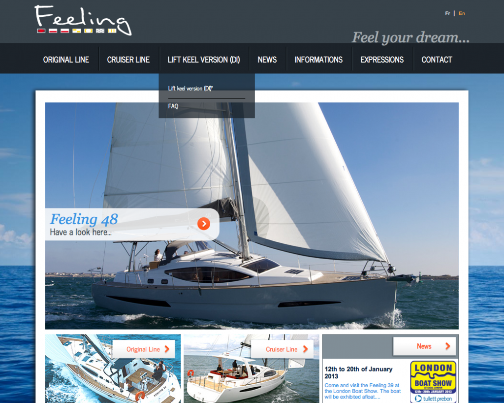 Feeling website EN